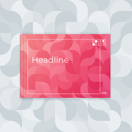 Horizontal cover template a4  a5. Wavy abstract design for the design of booklet, postcard, flyer, poster, website. 向量圖像