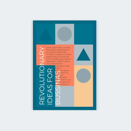 Diseño de plantilla para portada abstracta vertical A4 con lugar para texto. Para el diseño de un folleto, un cartel, folletos, libros.