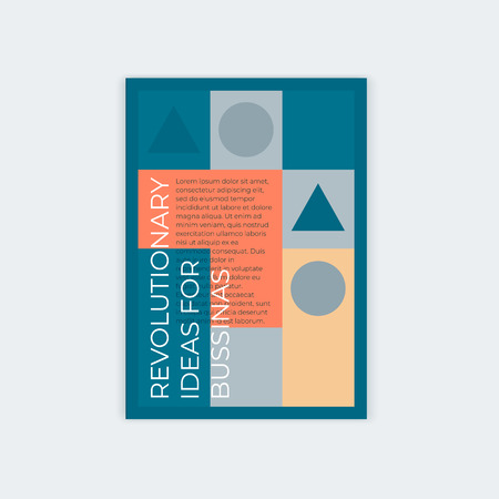 Template design for vertical abstract cover A4 with place for text. For the design of a booklet, a poster, leaflets, books.