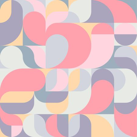 Abstract vector colorful pastel geometric harmonic wave background