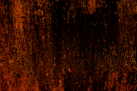 wallpaper copper gold golden: dark old scary rusty rough golden and copper metal surface texturebackground for Halloween or haunted house games backgroundtexture of wall Stock Photo