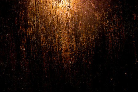 metal wall: dark old scary rusty rough golden and copper metal surface texturebackground for Halloween or haunted house games backgroundtexture of wall Stock Photo
