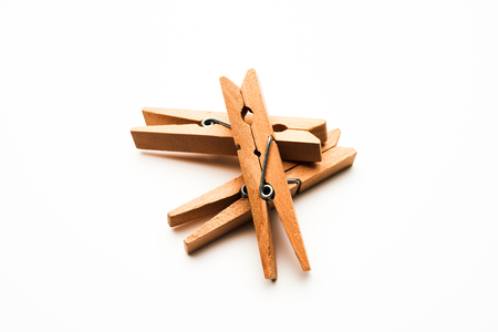 clothes pegs: clothes pegs on white
