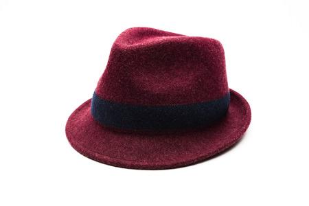sof: beautiful purple sof hat on white