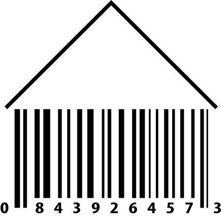 vertical bars: Barcode House Illustration
