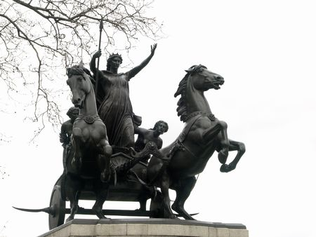 Statue of the queen Boadicea in London