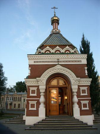 기독교 정교회 예배당 및 러시아, 사마라 지역 성도 동상