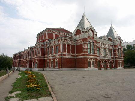 사마라, 러시아의 드라마 극장 스톡 콘텐츠