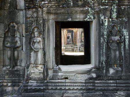 Preah Kahn Tempel, Siem Reap, Cambodja