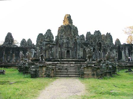 Bayon Temple in Siem Reap, Cambodia Stok Fotoğraf - 245811