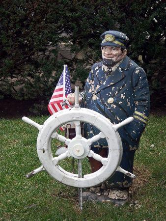 Captain - lawn art