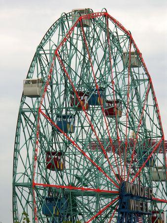coney: Wonder Wheel in the Coney Island Astroland Park, Brooklyn, NY