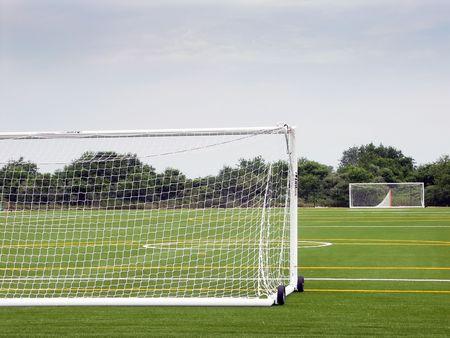 Empty soccer field Stok Fotoğraf - 468709