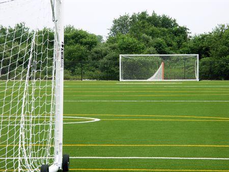 Empty soccer field Stok Fotoğraf - 468710