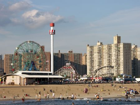 coney: Coney Island Astroland Amusement Park Stock Photo