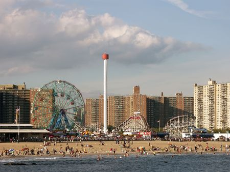 Coney Island Astroland Amusement Park Stock Photo
