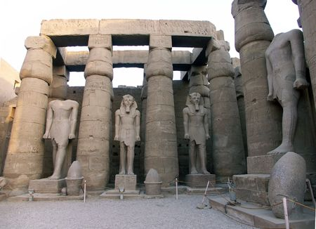Ramses statues at the Luxor Temple, Egypt