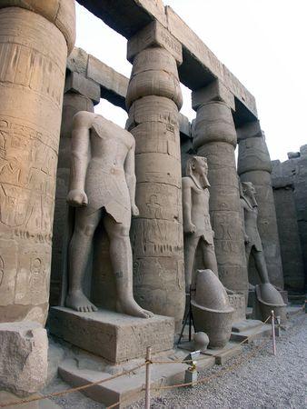 룩 소 르 사원, 이집트에서 Ramses 동상 스톡 콘텐츠 - 605687
