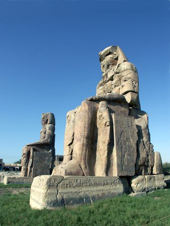 Colossi of Memnon at Luxor, Egypt photo