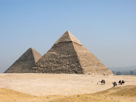 The pyramid of Khephren (Khafre) Stock Photo
