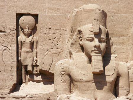stele: Abu Simbel, Egypt Stock Photo