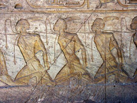 captives: Abu Simbel, Egypt Stock Photo