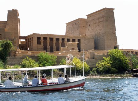 Cruising the Nile river, Egypt Stock Photo