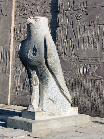 Statue of Horus, Edfu Temple, Egypt Stock Photo - 605826