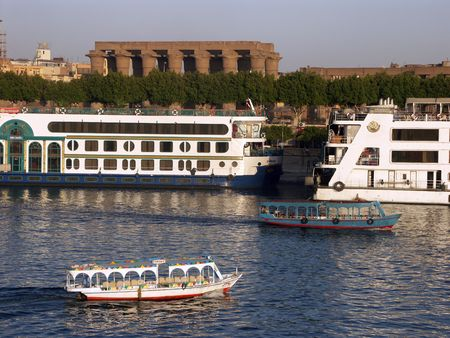 Cruising the Nile river, Luxor, Egypt