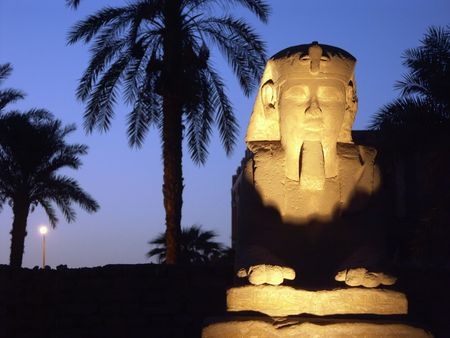 Sphinx alley at the Luxor Temple, Egypt Stock Photo