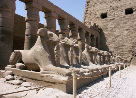 Ram headed Sphinx Statues, Temple of Karnak, Luxor (Thebes), Egypt