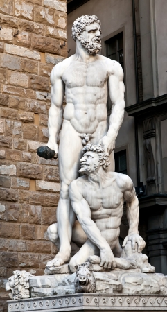 Hercules and Cacus by the Florentine artist Baccio Bandinelli  1533  Stock Photo - 14946494