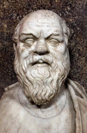 ancient philosophy: Bust of Socrates  Marble, Roman copy after a Greek original from the 4th century BC Stock Photo