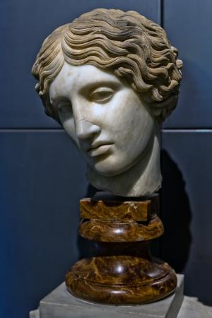Head of an Amazon  Greek marble