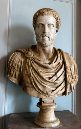 pius: Bust of an ancient Roman emperor Antoninus Pius
