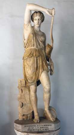 Wounded Amazon Roman copy of Greek original by Phidias with head a replica from Polykleitos from 440-430 BCE Marble Editorial