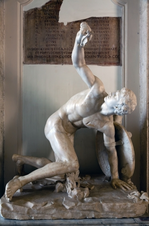 1st century: Torso of Discobolus restored as wounded warrior 1st century CE copy of 460 BCE original by Mirone