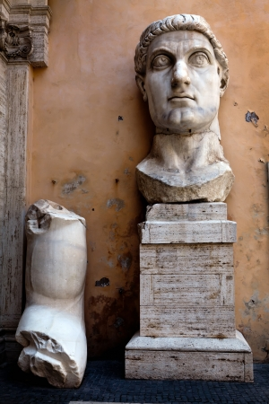 constantine: Colossus of Constantine was a colossal acrolithic statue of the late Roman emperor Constantine the Great (c. 280�337) resided the west apse of the Basilica of Maxentius near the Forum Romanum in Rome.