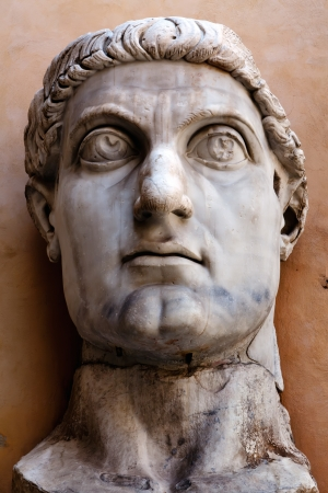Colossus of Constantine was a colossal acrolithic statue of the late Roman emperor Constantine the Great (c. 280�337) resided the west apse of the Basilica of Maxentius near the Forum Romanum in Rome.