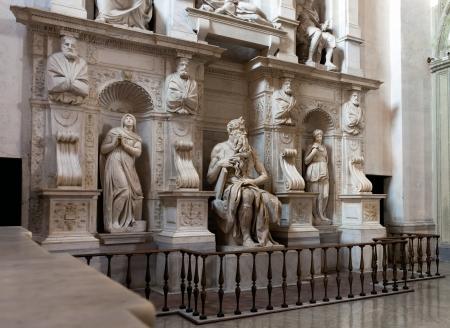 vincoli: Moses by Michelangelo in San Pietro in Vincoli, Rome, Italy Editorial
