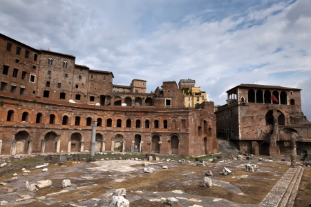 Trajan s Markets in Rome, Italy Stock Photo