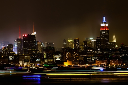Midtown Manhattan on the evening photo