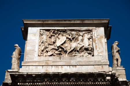constantine: Triumphal Arch of Constantine, dedicated in AD 315 to celebrate Constantines victory three years before over his co-emperor, Maxentius  Stock Photo
