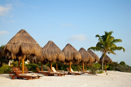 メキシコ プラヤ ・ デル ・ カルメンのビーチ