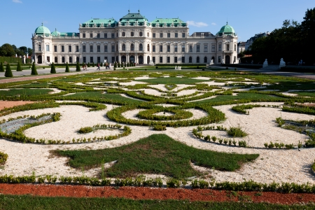 commissioned: Upper Belvedere Palace in Vienna, Austria  The Baroque palace was commissioned by Prince Eugene and completed in 1723  Editorial