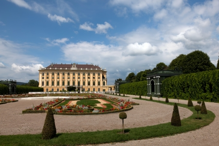 nbrunn: Sch�nbrunn Palace is a former imperial 1,441-room Rococo summer residence in Vienna, Austria  One of the most important cultural monuments in the country, it is one of the major tourist attractions in Vienna   Editorial