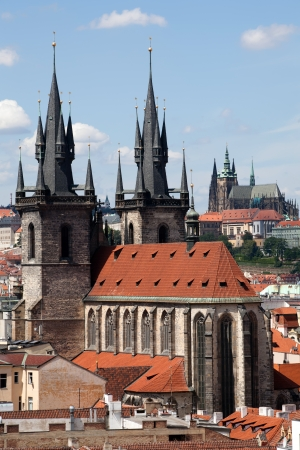 tyn: The Church of Our Lady Before Tyn in Prague, Czech republic