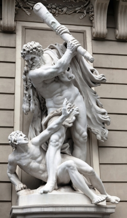 Hercules slaying Augeas for non-payment of debt - the promised fee for cleaning the Augean stables