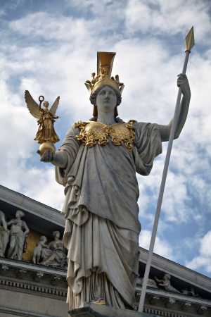 The Athena statue of the Athena Fountain  photo