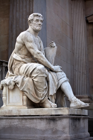 Statue of a history scholar in the ancient Greek style photo